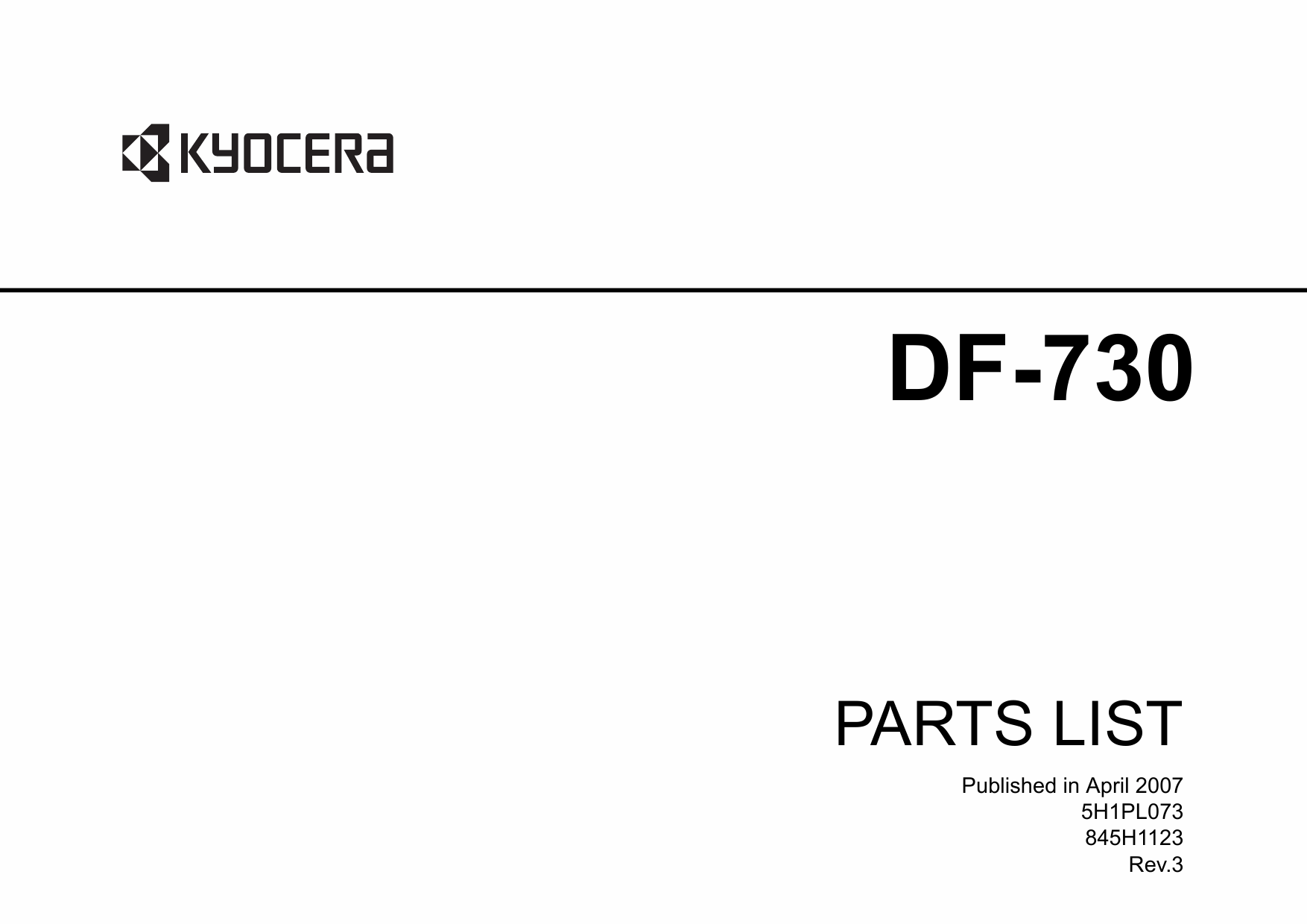 KYOCERA Options Document-Feeder DF-730 Parts Manual-1